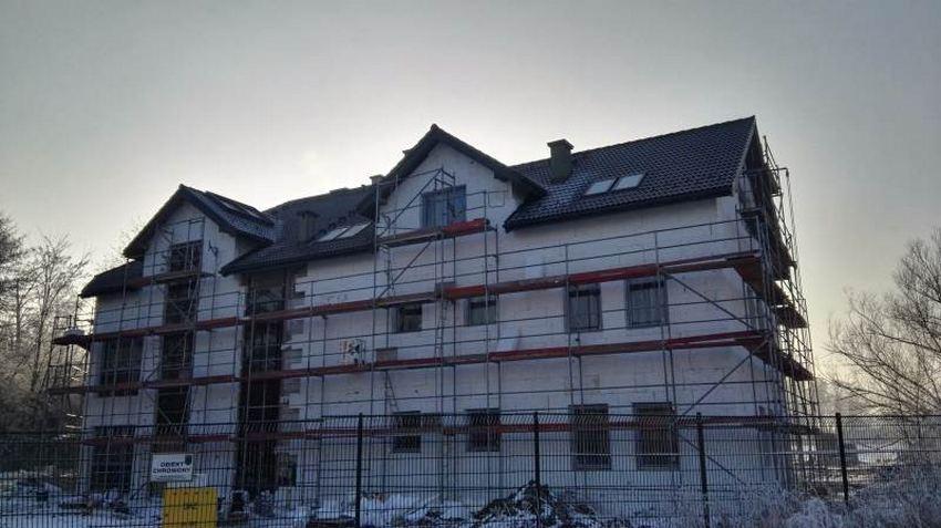 Dach na budynku usługowym w Niepołomicach