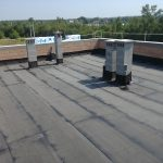 Dach pokryty papą
