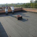 Dach płaski wykonany z papy