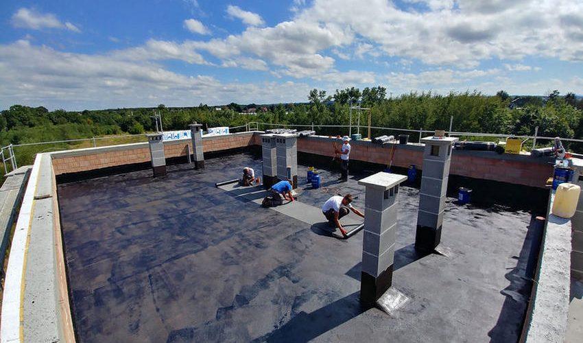 Dach płaski z papy