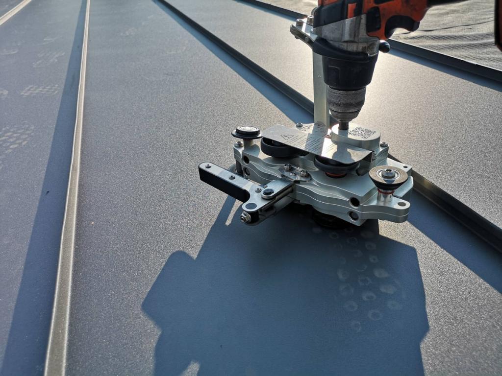 Blacha aluminiowa Prefa na rąbek stojący
