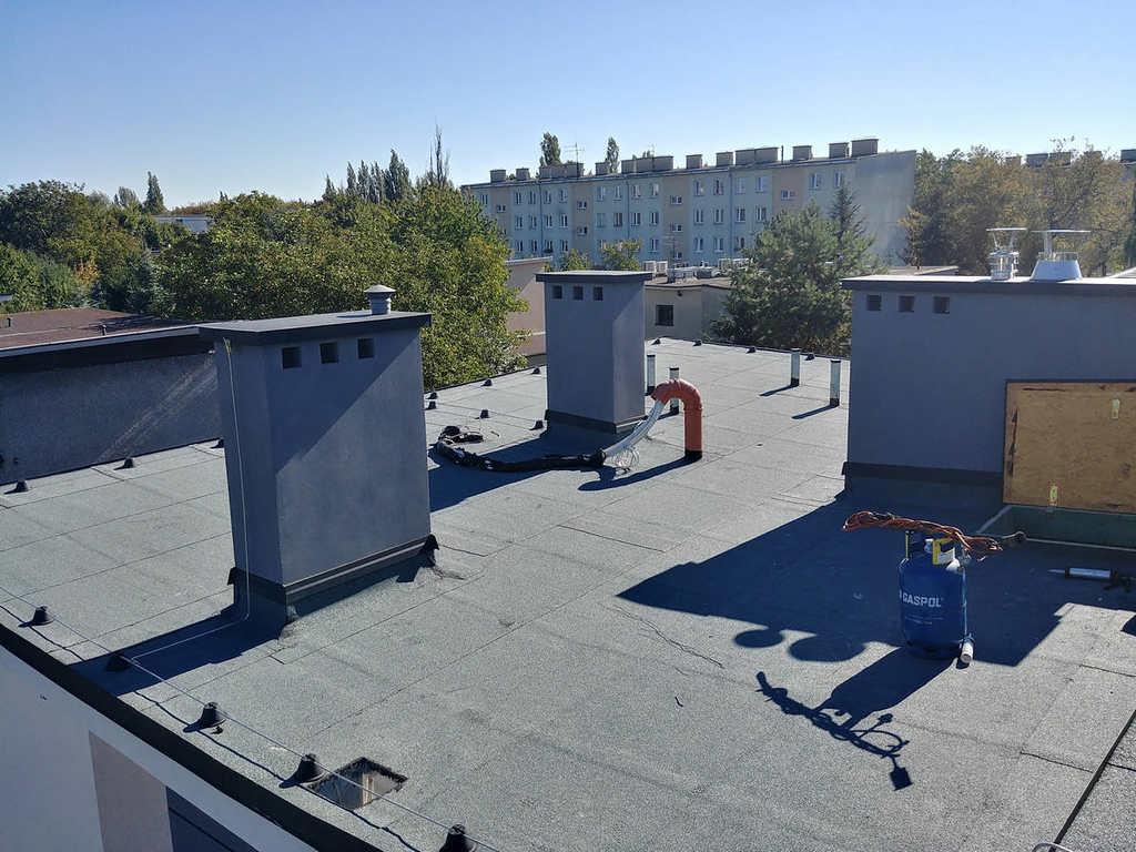 Dach płaski pokryty papą Kraków